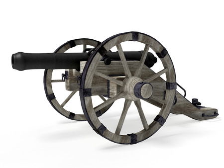old cannon isolated on white background 版權商用圖片