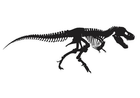 silhouette of Tyrannosaurus Rex vector illustration
