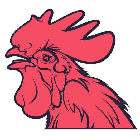 rooster head design vector illustration