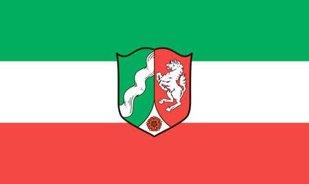 flag of North Rhine-Westphalia Germany vector illustration