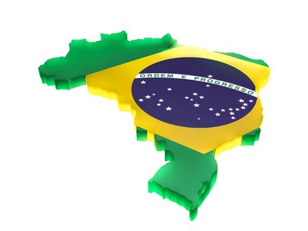 Map the Brazil Stock Photo