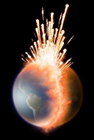 Earth explosion photo