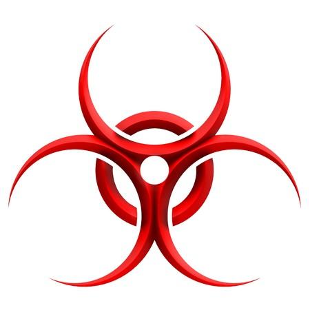 sustancias toxicas: -Signo de peligro biol�gico  Foto de archivo