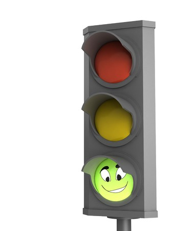trafic: Trafic light with smile