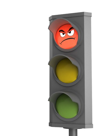trafic: Trafic light with displeasure