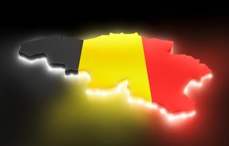 belgien: Map the Belgium Stock Photo