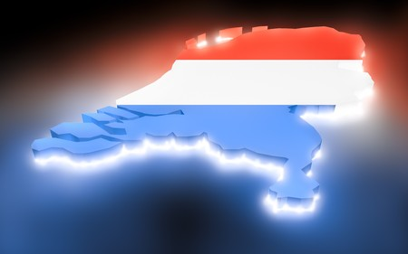 map the Netherlands Stock Photo - 8178513