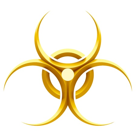 riesgo biologico: -Signo de peligro biol�gico Foto de archivo