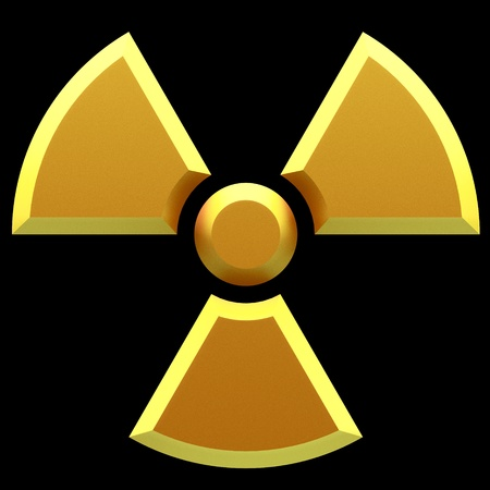 radioisotope: Sign - radioactive danger