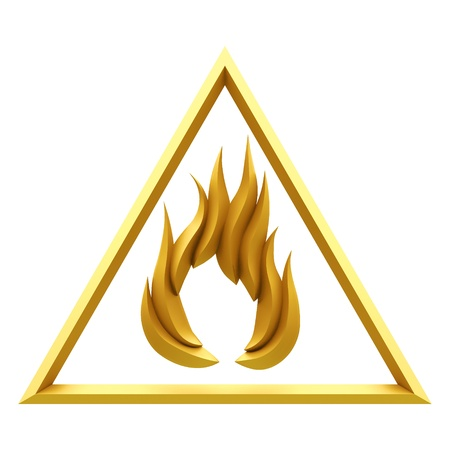 flammable: Flammable warning sign
