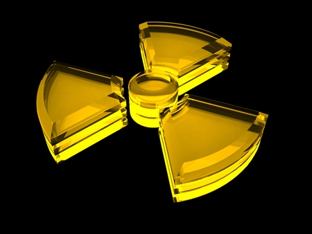 Sign - radioactive danger with fluorescence Stock Photo - 9008668