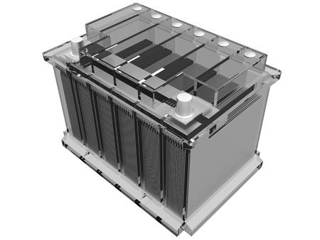 bateria: bater�a de coche (plano de conjunto) Foto de archivo