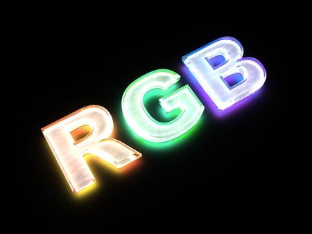 RGB Farbe Regelung Zeichen