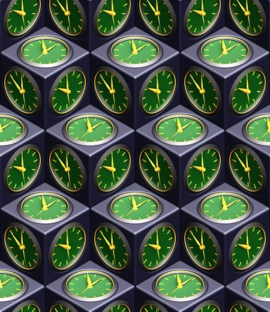 time machine: clock seamless texture Stock Photo