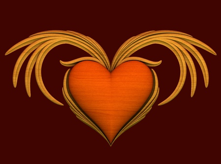 Red heart with wings  Stock Photo - 11247167