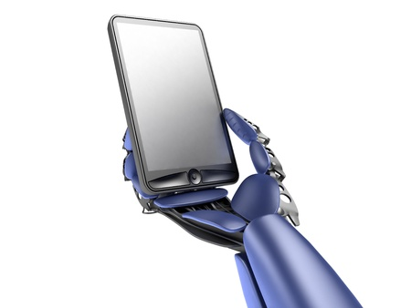 cyborg with phone Stock Photo - 10778593