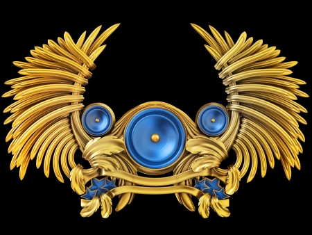 sub woofer: Coat of arms - loudspeaker with wings