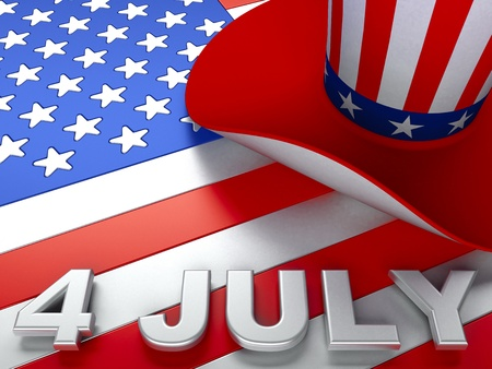 red flag up: United States Declaration of Independence  Stock Photo