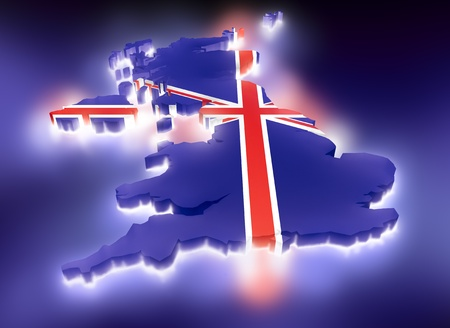 Map the United Kingdom Stock Photo - 13316594
