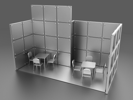 stackable: showroom at an tradeshow