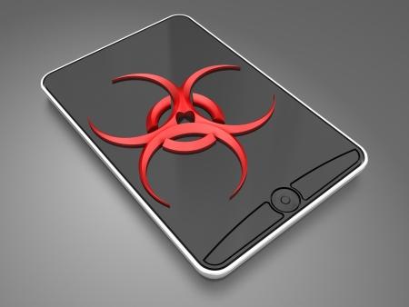 virus in the smartphone  photo