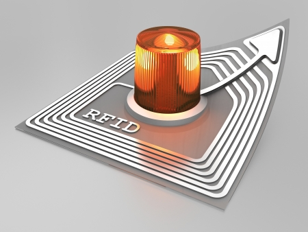 rfid: RFID chip with alarm light