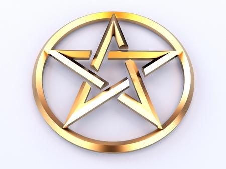 paganism: Pentagram - sign