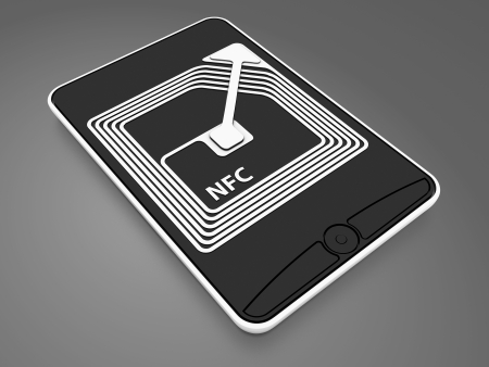 poblíž: NFC čip se smartphonem