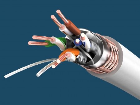 Cable SSTP cat6a  Twisted pair