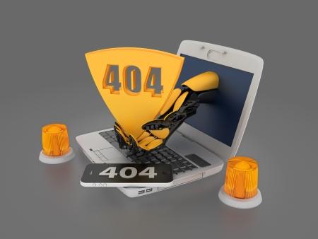 unreachable: Page not found - error 404 Stock Photo