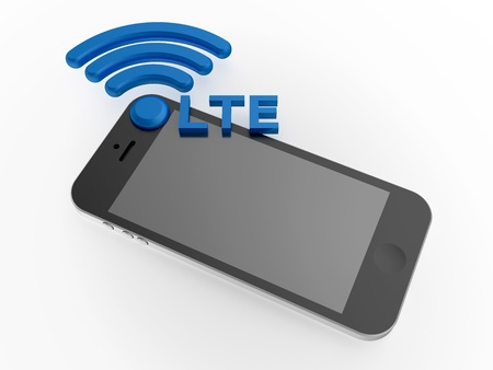 Sign LTE standard with smartphone photo