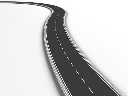 single lane road: Road