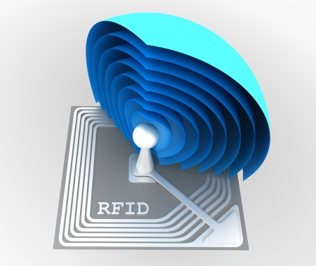 rfid: rfid chip Stock Photo