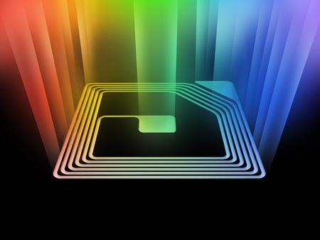 rfid chip with light beam photo