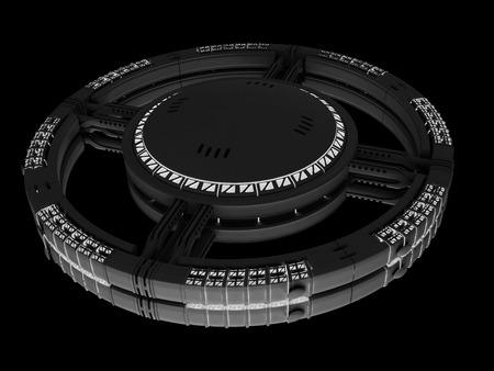 orbits: Space station  spaceship  Stock Photo