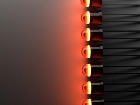 Lot of light emitting diode  LED