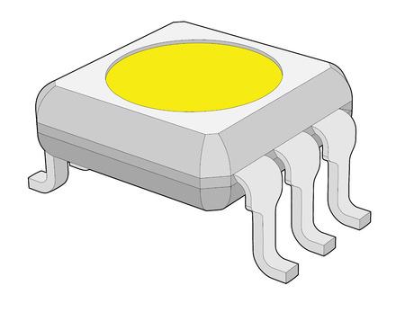 iluminacion led: multicolor LED de chip