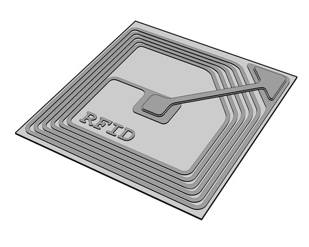 rfid chip Illustration