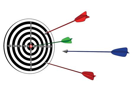 bull s eye: target with arrow Illustration