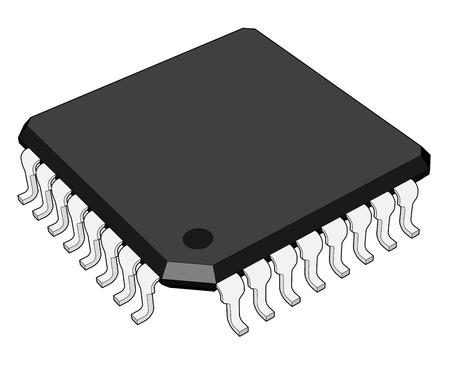 technologic: micro chip Illustration