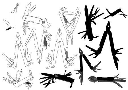 variability: multitool set Illustration