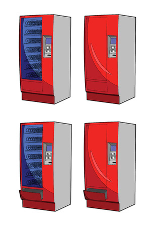 vending machine Vector