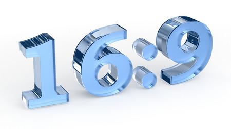 aspect: 16: 9 aspect ratio Stock Photo