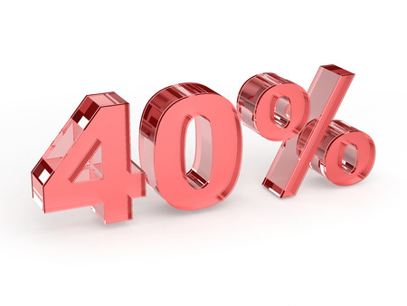 40: 40 procents sale sign