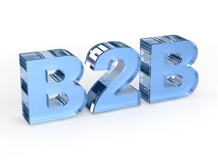 b2b: B2B Business to r�tulo de establecimiento