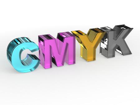 CMYK color scheme sign