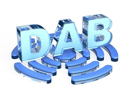 ico: DAB Digital Audio Broadcasting Stock Photo