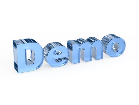 demo: Demo software sign Stock Photo