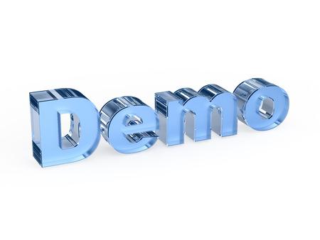 shareware: Demo software sign Stock Photo