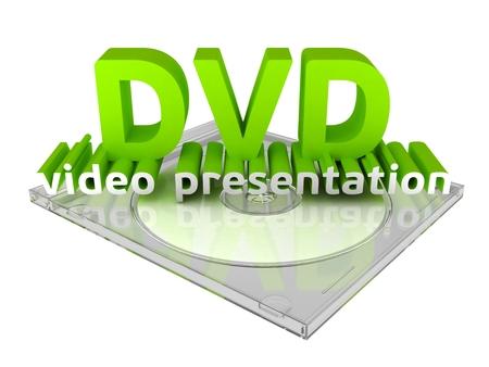 dvdr: DVD video presentation Stock Photo